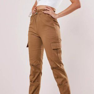 Missguided Tan Cargo Pants